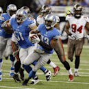 Detroit Lions wide receiver Nate Burleson (13) runs for a 28-yard reception during the first quarter of an NFL football game against the Tampa Bay Buccaneers in Detroit, Sunday, Nov. 24, 2013 The Associated Press