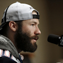 New England Patriots wide receiver Julian Edelman answers a question during a news conference Wednesday, Jan. 28, 2015, in Chandler, Ariz. The Patriots play the Seattle Seahawks in NFL football Super Bowl XLIX Sunday, Feb. 1, in Phoenix The Associated Pre