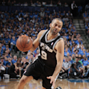 Tony Parker #9 of the San Antonio Spurs handles the ball against the Dallas Mavericks during Game Four of the Western Conference Quarterfinals during the 2014 NBA Playoffs on April 28, 2014 at the American Airlines Center in Dallas, Texas. (Photo by Danny Bollinger/NBAE via Getty Images)