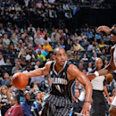 BROOKLYN, NY - APRIL 13: Arron Afflalo #4 of the Orlando Magic drives to the basket against the Brooklyn Nets on April 13, 2014 at the Barclays Center in Brooklyn, New York. (Photo by Jesse D. Garrabrant/NBAE via Getty Images)