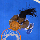Denver Nuggets forward Kenneth Faried dunks during the second half of an NBA basketball game against the Los Angeles Clippers, Tuesday, April 15, 2014, in Los Angeles. The Clippers won the game 117-105 The Associated Press