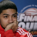 Louisville's Peyton Siva ponders a question during a news conference for their NCAA Final Four tournament college basketball game Sunday, April 7, 2013, in Atlanta. Louisville plays Michigan in the championship game on Monday. (AP Photo/Chris O'Meara)