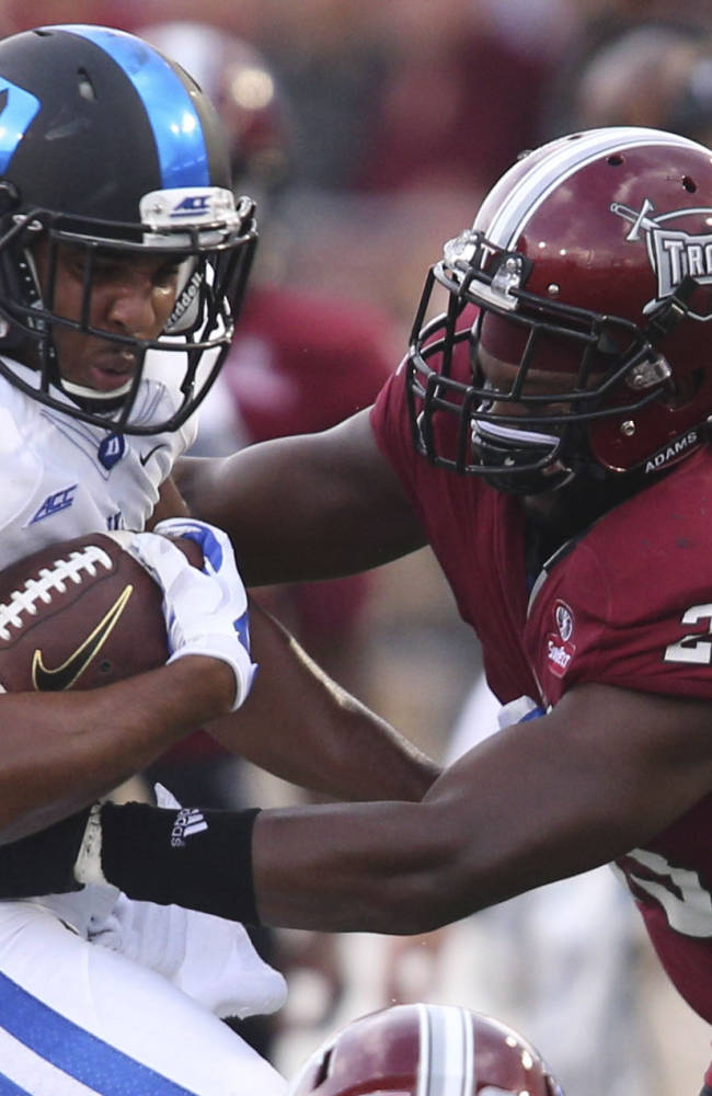 Anthony Boone leads Duke past Troy, 34-17