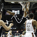 Brooklyn Nets' Andray Blatche dunks during the first half of an NBA basketball game against the Milwaukee Bucks Saturday, Dec. 7, 2013, in Milwaukee The Associated Press