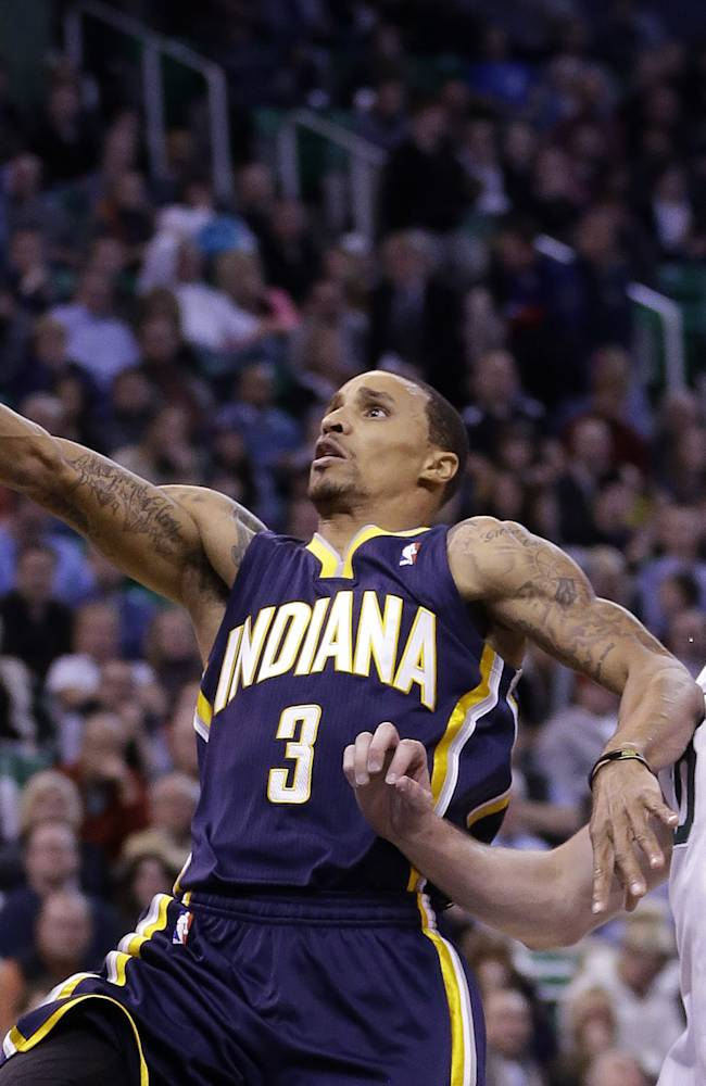 George leads Pacers over Jazz, 95-86