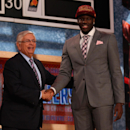 NEW YORK, NY - JUNE 27: Anthony Bennett of UNLV poses for a photo with NBA Commissioner David Stern after Bennett was drafted #1 overall by the Cleveland Cavaliers during the 2013 NBA Draft at Barclays Center on June 27, 2013 in in the Brooklyn Bourough of New York City. (Photo by Mike Stobe/Getty Images)