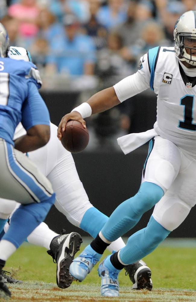 Newton, defense lead Panthers over Lions 24-7