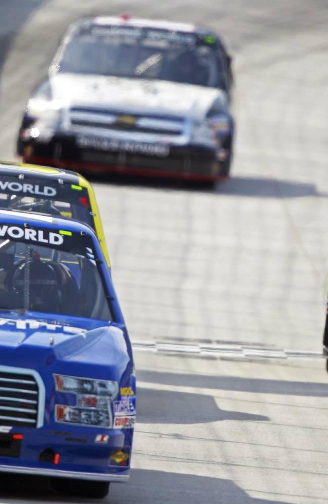 Brad Keselowski gets 1st NASCAR Truck Series win
