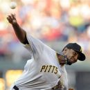 Pittsburgh Pirates' James McDonald throws a pitch against the Philadelphia Phillies in the first inning of a baseball game Wednesday, June 27, 2012, in Philadelphia. (AP Photo/Michael Perez)