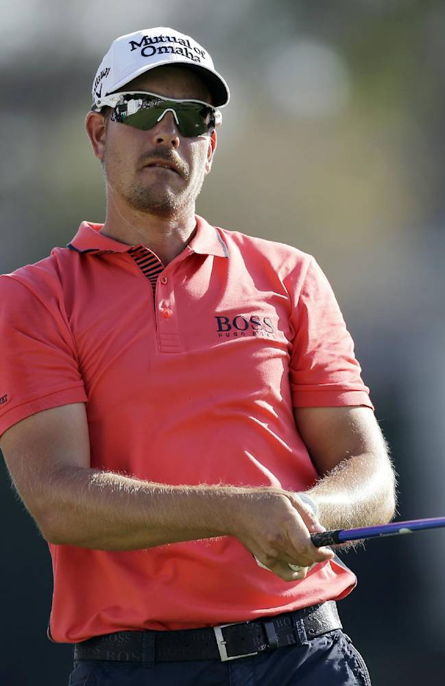 Henrik Stenson, of Sweden, follows the flight of his tee shot on the 18th hole during the first round of the Arnold Palmer Invitational golf tournament at Bay Hill on Thursday, March 20, 2014, in Orlando, Fla