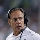 Michigan State coach Mark Dantonio stands on the sidelines during the fourth quarter of an NCAA college football game against Jacksonville State, Friday, Aug. 29, 2014, in East Lansing, Mich. Michigan State won 45-7. (AP Photo/Al Goldis)