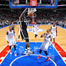 PHILADELPHIA, PA - NOVEMBER 26: Kevin Garnett #2 of the Brooklyn Nets dunks against the Philadelphia 76ers on November 26, 2014 at Wells Fargo Center in Philadelphia, PA. (Photo by Jesse D. Garrabrant/NBAE via Getty Images)