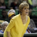 Baylor head coach Kim Mulkey instructs her team on offense in the second half of an NCAA college basketball game against Stephen F. Austin, Sunday, Dec. 14, 2014, in Waco, Texas. (AP Photo/Tony Gutierrez)
