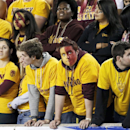 Arizona State students stand silent after a Stanford touchdown during the first half of the NCAA Pac-12 Championship football game Saturday, Dec. 7, 2013, in Tempe, Ariz. Stanford won 38-14 The Associated Press