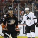 Sharks end skid in fight-filled 4-1 win over Ducks The Associated Press