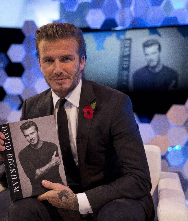 AP Interview: Beckham hopes son could play on team
