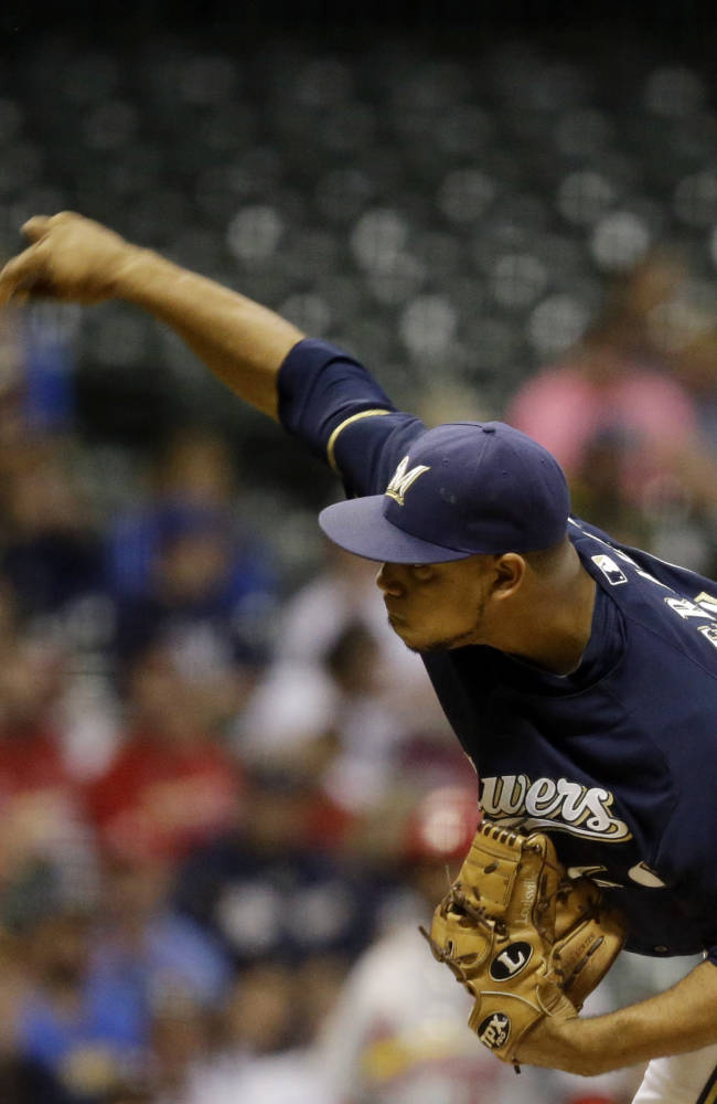 Brewers beat Cardinals 6-4 in home finale