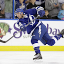 FILe - In this March 27, 2014 file photo, Tampa Bay Lightning forward Ryan Callahan (24) warms up before an NHL hockey game against the New York Islanders in Tampa, Fla. The Lightning have signed Callahan to a six-year contract. The team announced the mov