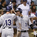 Stubbs' HR, Barnes' catch lift Rockies over Padres The Associated Press