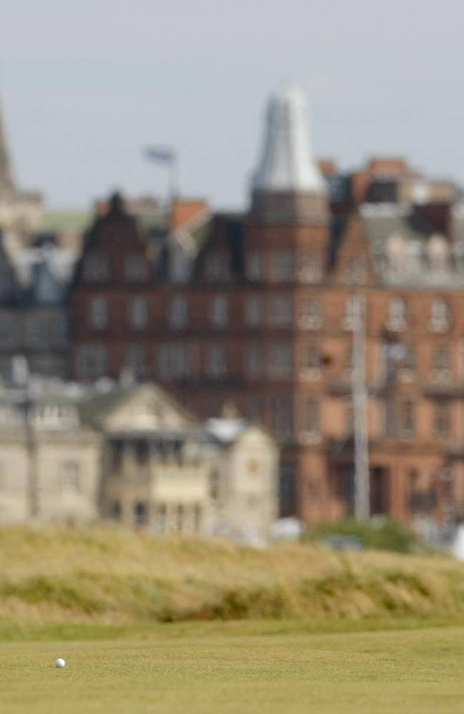 Former world number one Annika Sorenstam hits a shot from the 14th fairway during the Women's British Open golf tournament on the Old Course at the Royal and Ancient Golf Club in St Andrews, Scotland, Saturday, Aug. 4, 2007