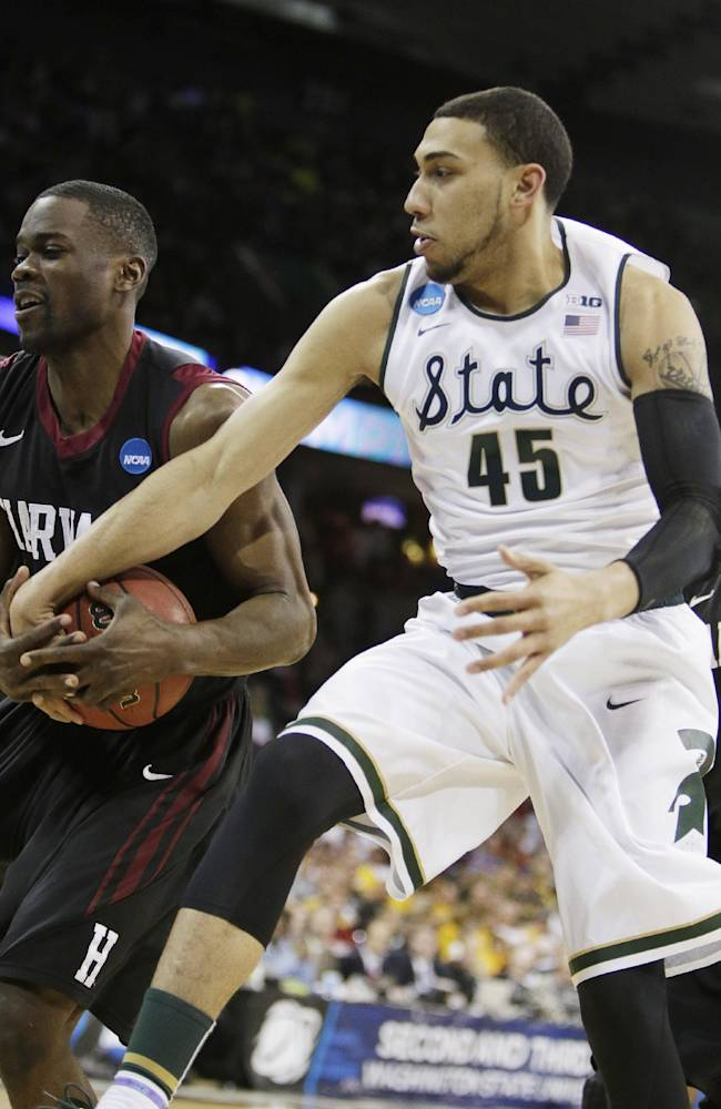 Spartans hold off Harvard 80-73