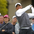 Tigers Woods tees off on the fifth hole during the second round of the Phoenix Open golf tournament, Friday, Jan. 30, 2015, in Scottsdale, Ariz. (AP Photo/Rick Scuteri)
