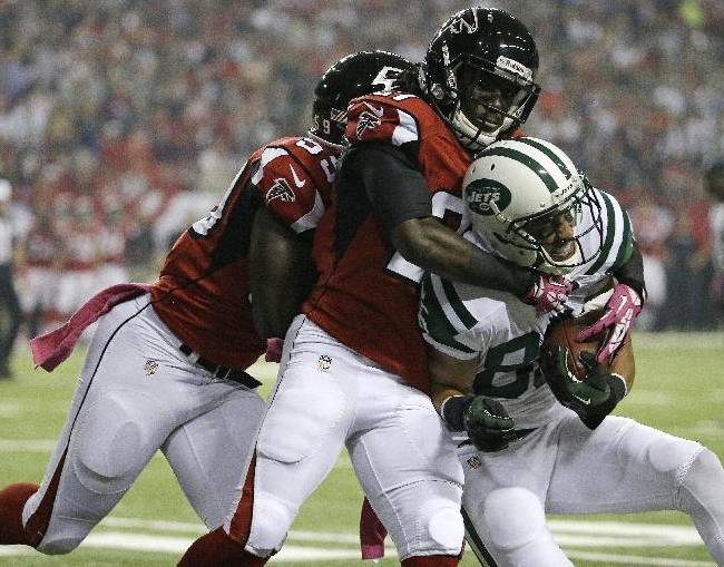 Smith, Folk lead New York Jets past Falcons 30-28