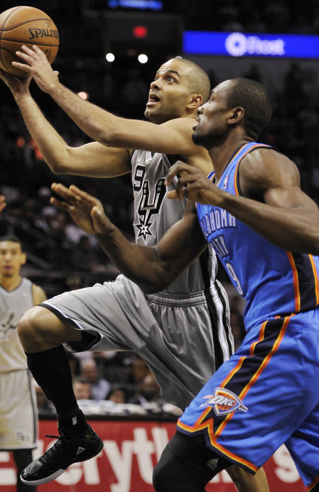 Westbrook leads Thunder past Spurs 113-100
