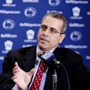 Dr. Wayne Sebastianelli, Penn State Director of Athletic Medicine, talks about football coach Joe Paterno's recovery from Sunday's leg surgery during a news conference on Wednesday, Nov. 8, 2006 in State College, Pa. Paterno was injured during the Wisconsin game on Saturday, Nov. 5, 2006. Penn State plays Temple, at home, this Saturday. (AP Photo/ Pat Little)