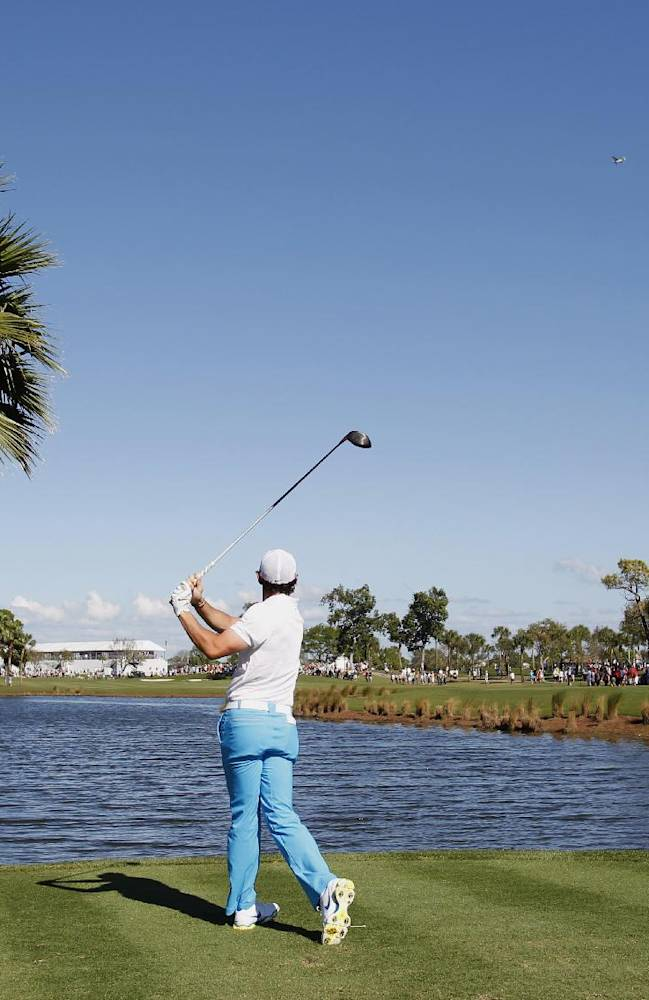 Rory McIlroy of Northern Ireland, tees off on the ninth hole during the third round of the Honda Classic golf tournament, Saturday, March 1, 2014 in Palm Beach Gardens, Fla