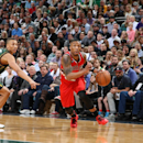 SALT LAKE CITY, UT - MARCH 25: Damian Lillard #0 of the Portland Trail Blazers drives to the basket against the Utah Jazz on March 25, 2015 at EnergySolutions Arena in Salt Lake City, Utah. (Photo by Melissa Majchrzak/NBAE via Getty Images)