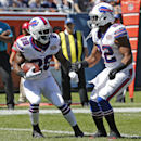 Buffalo Bills running back C.J. Spiller (28) celebrates his touchdown with teammate Fred Jackson (22) in the end zone during the first half of an NFL football game against the Chicago Bears Sunday, Sept. 7, 2014, in Chicago The Associated Press