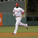 Philadelphia Phillies' Ryan Howard (6) runs the bases after hitting a solo home run against the Atlanta Braves in the second inning of the MLB National League baseball game Monday, April 14, 2014, in Philadelphia The Associated Press