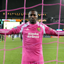 Portland Timbers goalkeeper Donovan Ricketts takes a moment in the goal before the Timbers' MLS soccer game against Real Salt Lake at Providence Park on Friday, Oct. 17, 2014, in Portland, Ore. The game ended in a scoreless tie The Associated Press