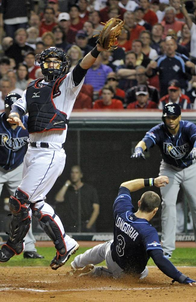 Cobb, Rays roll 4-0 over Indians in AL wild card