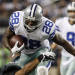 Dallas Cowboys running back Felix Jones (28) is tackled by Philadelphia Eagles defensive end Darryl Tapp (55) during the second half of an NFL football game Sunday, Dec. 2, 2012 in Arlington, Texas