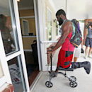 Atlanta Falcons receiver Drew Davis reports for NFL football training camp in Flowery Branch, Ga., Thursday, July 24, 2014. (AP Photo) The Associated Press