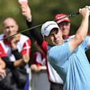 Richie Ramsay from Scotland follows his shot during the second round of the European Tour Golf Tournament in Himmerland, Denmark, Friday, Aug. 15, 2014. (AP Photo/Polfoto, Rene Schuetze) DENMARK OUT