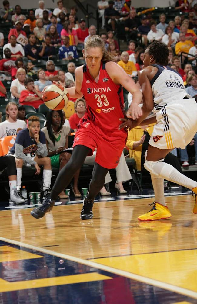 Catchings leads Fever past Mystics 78-73 in Game 1