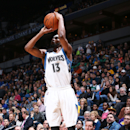 MINNEAPOLIS, MN - DECEMBER 14: Corey Brewer #13 of the Minnesota Timberwolves takes a shot against the Los Angeles Lakers on December 14, 2014 at Target Center in Minneapolis, Minnesota. (Photo by Gary Dineen/NBAE via Getty Images)