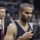 San Antonio Spurs' Tony Parker, of France, walks from the floor after the Spurs defeated the Memphis Grizzlies 102-86. in an NBA basketball game in Memphis, Tenn., Friday, Nov. 22, 2013 The Associated Press