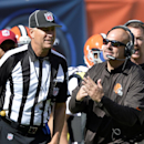 Cleveland Browns head coach Mike Pettine, front right, calls a time out in the fourth quarter of an NFL football game against the Baltimore Ravens, Sunday, Sept. 21, 2014, in Cleveland The Associated Press