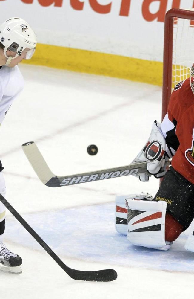 Senators roll past Penguins 5-0