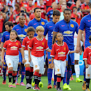 IMAGE DISTRIBUTED FOR GUINNESS INTERNATIONAL CHAMPIONS CUP-Manchester United players enter the field during a match between Inter Milan and Manchester United in the 2014 Guinness International Champions Cup on Tuesday, July 29, 2014 in Landover, Maryland.