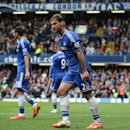 Chelsea's Branislav Ivanovic looks hard towards the assistant referee after his headed goal was ruled offside, during their English Premier League soccer match between Chelsea and Stoke City at Stamford Bridge stadium in London, Saturday, April, 5, 2014