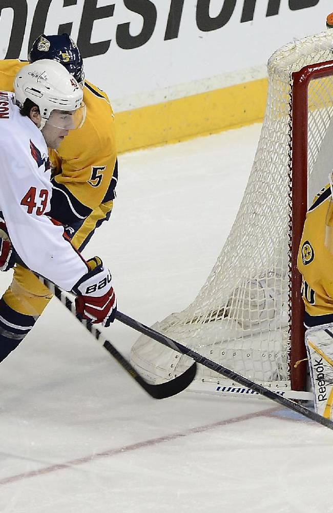 Predators beat Capitals 4-3 in shootout