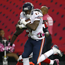 Chicago Bears wide receiver Alshon Jeffery (17) runs after a long catch against Atlanta Falcons defensive back Kemal Ishmael (36) during the second half of an NFL football game, Sunday, Oct. 12, 2014, in Atlanta The Associated Press