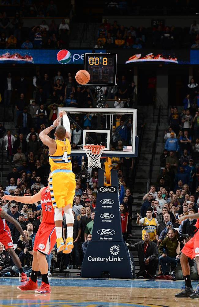 Foye's 3 at buzzer to lifts Nuggets past Clippers