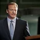NFL Commissioner Roger Goodell takes the stage to speak at a news conference Friday, Sept. 19, 2014, in New York. Goodell says the NFL wants to implement new personal conduct policies by the Super Bowl. The league has faced increasing criticism that it has not acted quickly or emphatically enough concerning the domestic abuse cases. The commissioner reiterated that he botched the handling of the Ray Rice case. (AP Photo/Jason DeCrow)