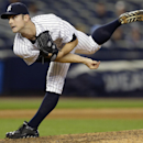 In this Aug. 22, 2013 file photo, New York Yankees reliever David Robertson follows through on a ninth-inning pitch in a 5-3 victory over the Toronto Blue Jays in a baseball game at Yankee Stadium, in New York. With Mariano Rivera relaxing in retirement,